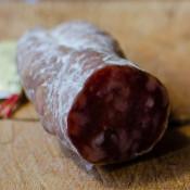 Salami mit Beaufortkäse